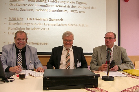 HOG-Tagung in Bad Kissingen, von links: Werner ...