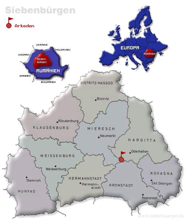 Geografische Lage (von siebenbuerger.de)