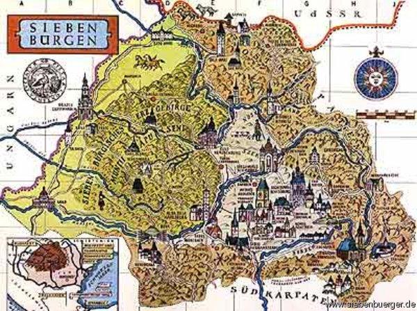 Bilder Von Deutschtekes Landkarte Siebenburgen Informationen