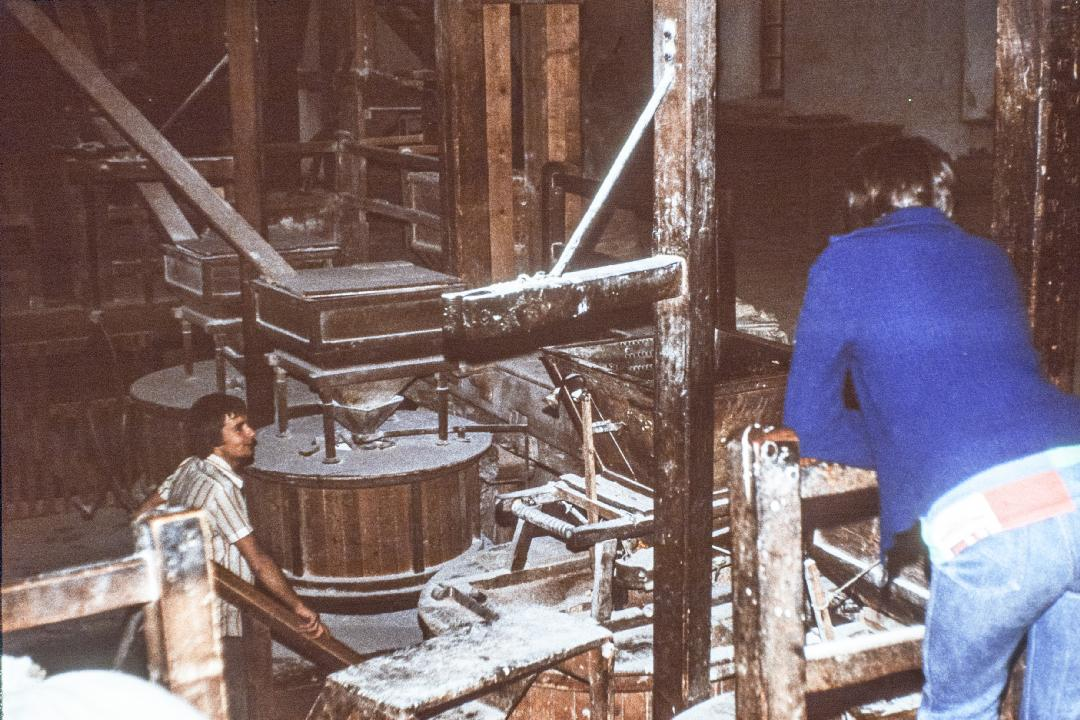 Mehlproduktion in Großpold 1977